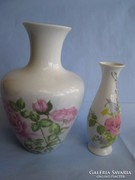 2 db kézzel festett német porcelán váza, jelzettek