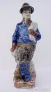 Kalapos pipás figuráli porcelán italos palack - nagy méret !