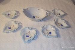 Porcelán - JELZETT - szószos - és - vagy sütis készlet -  7 darabos