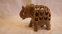 Zsírkő faragás elefántban elefánt szobor