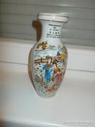 Porcelán váza, 21 cm magas,