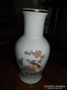 Paradicsommadár mintás 1.o. hollóházi padlóváza - váza