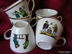 Svejk porcelán kávés csésze (5 db) + Figura