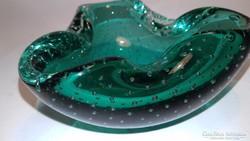 Murano-i buborékos üveg hamuzó hamutartó hamutál