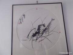 Kínai kép, szignált: Cai Yun