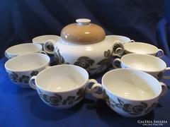 Arzberg különleges mintás teás kávés csésze kiöntővel A053