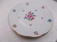 Herendi,jelölt,virágmintás süteményes tányérok