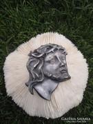Tibeti ezüstből és eredeti fehér koralbol készült művészi al