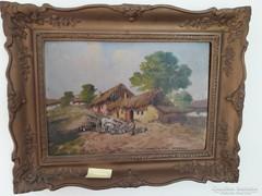Németh György naturalista stílusú faluképe