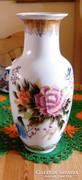 36 x 12 cm porcelán váza, kézzel festett