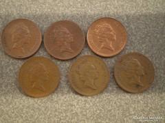 6 db 1 penny-s