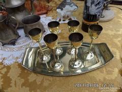 Réz tálcán réz stampedlis pohár