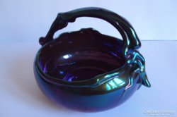 Eladó káprázatos lila opak  eozinmázas Zsolnay porcelán