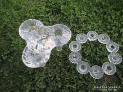 Kosta Boda gyertyatartók k.üvegből, tervezője Ulrica Hydman
