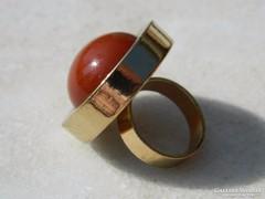 Extra nagy fejű látványos gyűrű  - bizsu