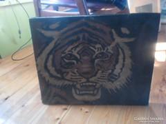 Tigris 50 cm x 40 cm olaj vászon