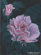 Rózsaszínben c. festmény, csendélet