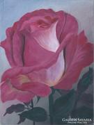 Rózsáskert szépe c. festmény, csendélet