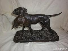 Antik nagy vas vadász kutya szobor m.k gépgyár