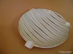 Hollóházi Retró Art Deco porcelán hamutartó