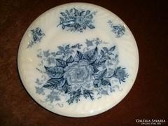 Antik cobalt festéses tányér Átmérő:25 cm
