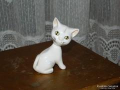 Különleges Aquincumi porcelán cica levehető fejjel