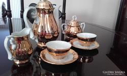 Aranyozott 2 személyes kávéskészlet 5db