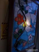 Tiffany világító üvegtábla. Ólomüveg. Szecesszió!!