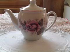 Virágos tea kiöntő
