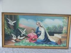 Szentkép,szignózott,olaj- vászon festmény