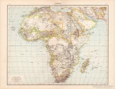 Afrika, Nílus vidéke, Senegambia, Aranypart térkép 1881