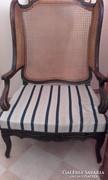 Barokk nádazott hátu fotel