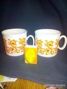 Zsolnay porcelán bögre 2 darab együtt