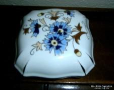 Zsolnay buzavirágos  porcelán bonbonier