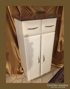 Márványlapos fürdőszoba szekrényke,komód