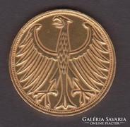 1974.F., Német 5 márka, ezüst- aranyozott.