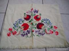 Antik népművészeti hímzett párnahuzat eladó!