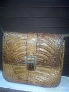 Krokodilbőr táska régi női, vállpánttal nagyon jó állapotban