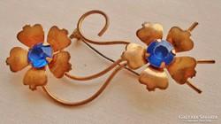 Gyönyörű antik aranyozott köves bross