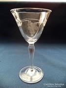 Csiszolt likőrös pohár