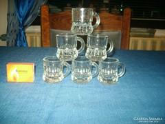 Hat darab bájos likőrös vagy pálinkás pohár