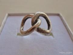 Ritka tömör antik  ezüst gyűrű