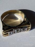 14 karátos cc.0.8 ct régi  gyémánt gyűrű