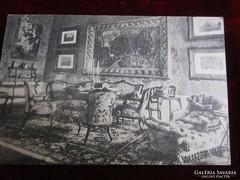 ERZSÉBET KIRÁLYNÉ SZISZI DOLGOZÓ SZOBA RÉGI KÉPESLAP 1924