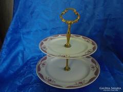 Alföldi porcelán 2 részes virágos kínáló