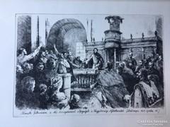 """""""1848 Szabadságharc 125. évfordulója 1973"""" Rézkarc"""