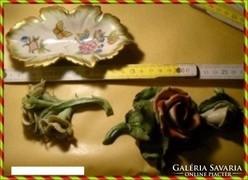 Herendi Szőlőlevél,Viktóriaminta és 2virág,15x9x4cm7724forma