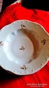 6 db Zsolnay  porcelán mély leveses tányér