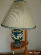 Antik asztali lámpa-majolika