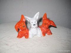 Bécsi porcelán   kiskutya ,hármas